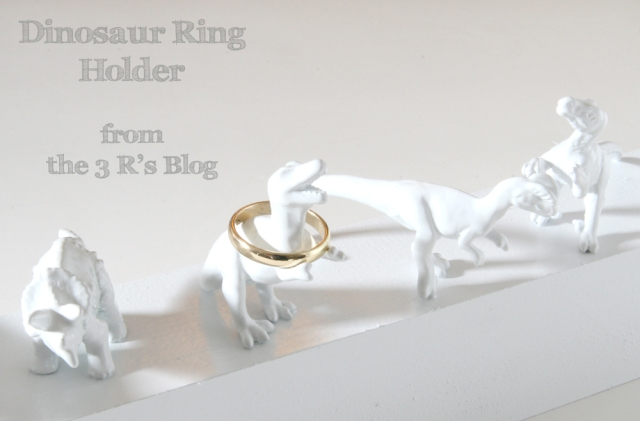 Dinosaur Ring Holder Tutorial by the 3 R's blog