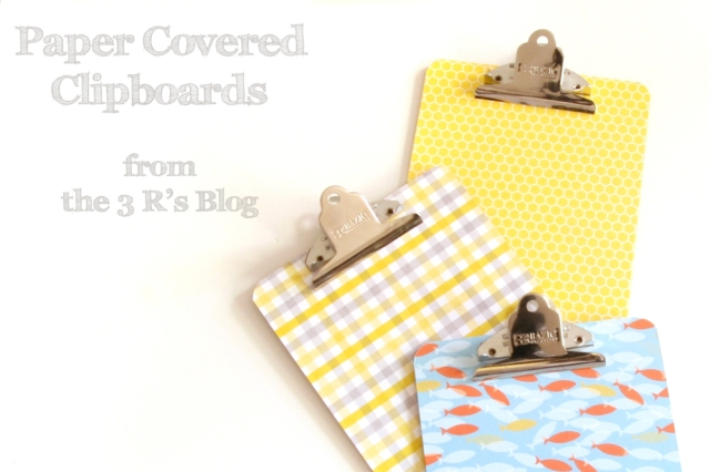Paper Covered Clipboard Tutorial by the3Rsblog.wordpress.com